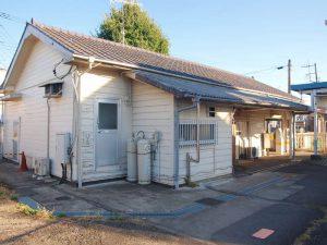 駅舎裏側。